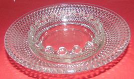 Vintage Three Crystal Glass Ashtrays-Candlewick-Cigarettes-Clear-Collectors - $7.74
