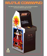 Video Arcade Game Stand-Up Display ATARI Missile Command - Pac-Man Aster... - $15.99