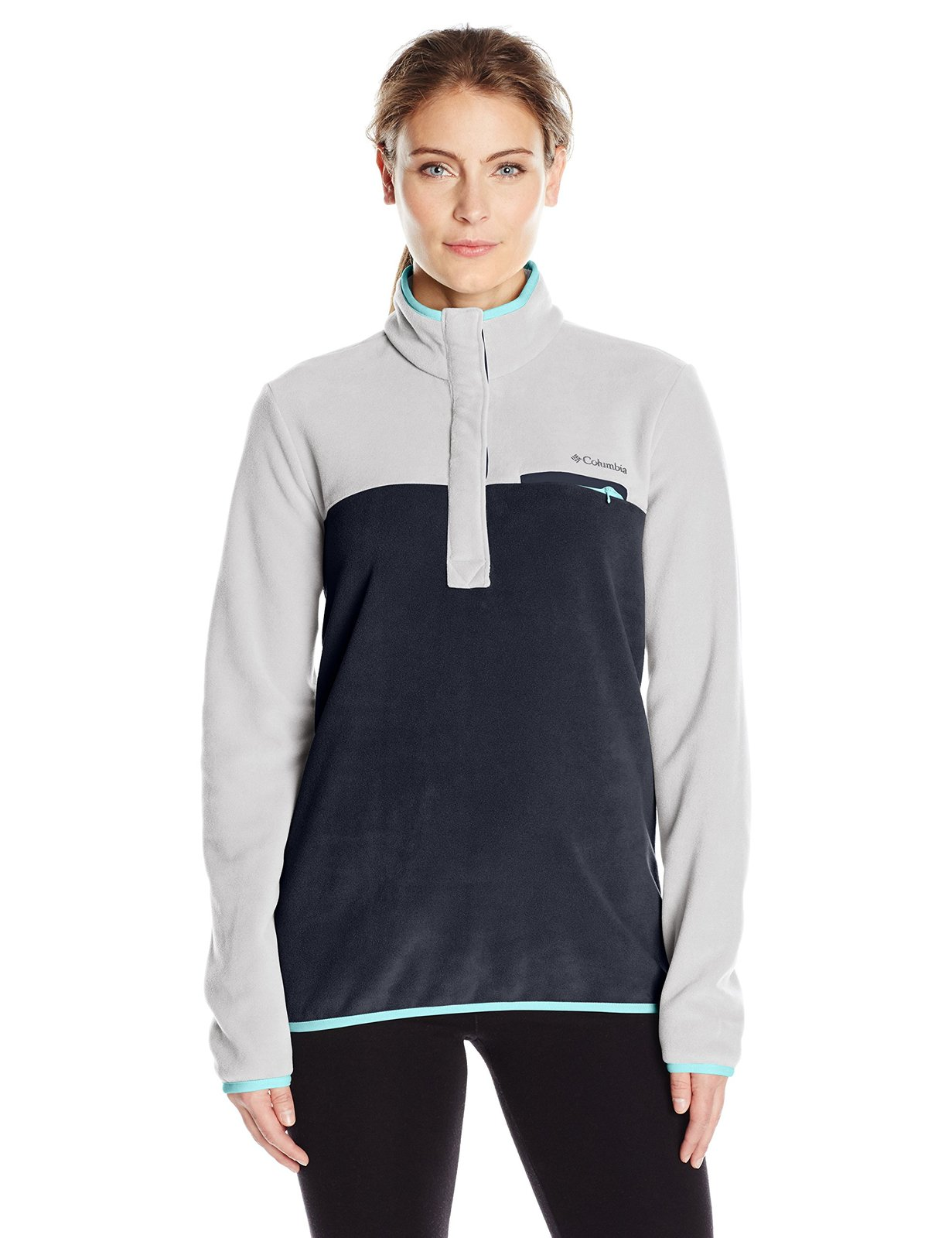 Columbia Women's Mountain Side Pullover, Columbia Grey Collegiate Navy, Small