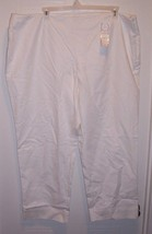 Woman's White Classic Fit Pants by Charter Club... - $6.97