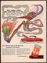 Vintage magazine ad SHELL MOTOR OIL 1952 Acid demon pictured Artzybasheff art - $12.99