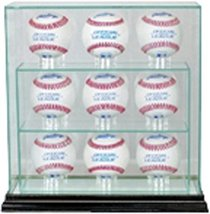 MLB 9 Upright Baseball Glass Display Case, Black - $78.95