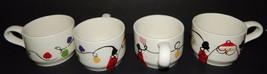 4 Christmas Santa Claus Hot Chocolate Coffee Tea Cup Mugs Holiday Hand P... - $29.70