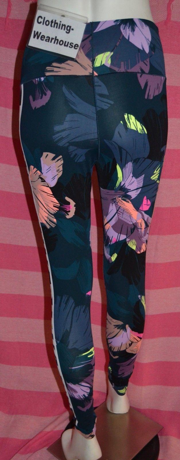 0b2084074f7385 Victoria's Secret PINK Bonded Highwaist Ultimate Legging Mesh Floral Black  S NEW