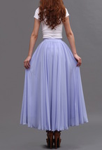 Lavender Purple Chiffon Skirt Women Chiffon Long Skirt Wedding Bridesmaid Skirts image 6