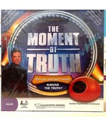 New! The Moment Of Truth Board Game with Toy Biometric Lie Detector SEALED  - $23.21
