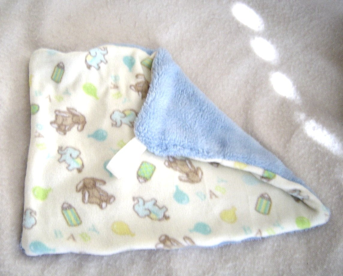 Primary image for  New Handcrafted Plush,Tag Mini Security Blanket, Animals, Ballons, Baby Blue