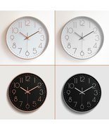 12'' Modern Gold Black White Silent Wall Clock Hanging Home Office Room ... - $32.99