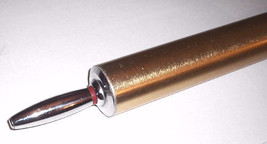 """Vintage 1960`s 18"""" Chrome & Gold  ROLLING PIN   - $11.88"""