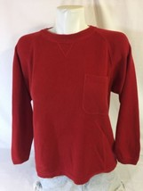 Eddie Bauer Women Red Blouse Size S Front Pocket Petite Bin37#2 - $9.50