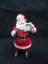 Coca-Cola Kurt S Adler Resin Santa Holiday Christmas Ornament Checking List - $12.38