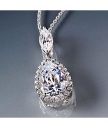French Pear Drop Necklace of Lab Created Diamonds Brand New Gorgeous Gift! - $129.00