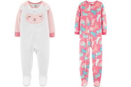 Carter's Kid's Girls' Set 2 Pieces Fleece Pajamas, Size 3T - $13.85