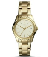 FOSSIL ADALYN THREE-HAND GOLD-TONE STAINLESS STEEL WATCH BQ3375 - $79.99