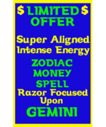Money Spell Highly Charged Spell For Gemini Millionaire Magic for Luck M... - $47.00