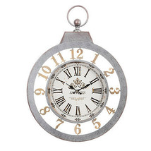 Darice Antique-Look Wall Clock: Metal, 19.75 x 26.75 inches w - $99.99