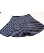 W13048 Womens J. CREW Navy Stripe Lined WOOL Flounce Ruffled Skater SKIR... - $38.60
