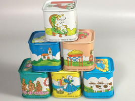 Chad Valley Tin Litho Toy Stacking Blocks Nursery Prop Display England V... - $42.04