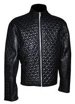True Blood Alexender Eric Northman Black Quilted Leather Jacket image 1