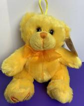 "Fiesta Dollywood Yellow Plush Bear 5"" Souvenir with Original Tag 2016 - $12.86"