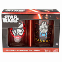 Star Wars The Force Awakens Photo Images 10 oz Pint Glass Set of 2, NEW ... - $7.82