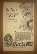 1937 Coors Export Lager Newsp Ad - Real Vienna Beer - Denver Rocky Mtn N... - $9.85