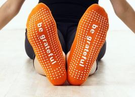 *SIX PACK* of Be Grateful (orange) yoga grip socks for women, Pilates, b... - $35.99