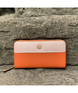 Tory Burch Robinson Color-Block Zip Continental Leather Wallet - $193.00