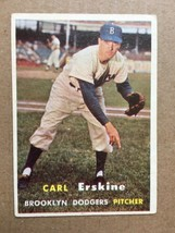 1957 Topps #252 Carl Erskine Dodgers Baseball Card EX Condition RF1 - $9.99