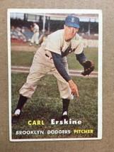 1957 Topps #252 Carl Erskine Dodgers Baseball Card EX Condition RF1 - $9.99