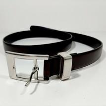 DKNY Women's Burgundy Leather Belt Size Medium 831501 36.5 Inch Length - $10.39