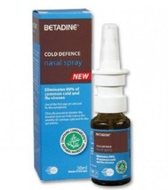 Betadine Cold Defence Nasal Spray 20ml Eliminate 99% Common Cold & Flu B... - $21.41