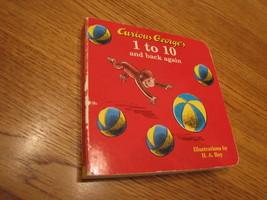 Curioso George's 1 Alla 10 E Indietro Again Libro H. A. Rey - $1.68