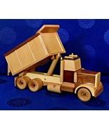 "wood decorative Dump truck large14""handmade kids room decoration - $123.75"