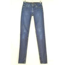 Big Star jeans 26 x 34 Alex Mid Rise Skinny dark wash tall long lean sexy - $39.59