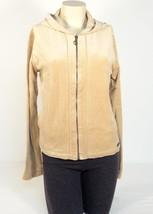 Baby Phat Tan Zip Front Hooded Velour Hooded Jacket Hoodie Women's Medium M NWT - $55.68