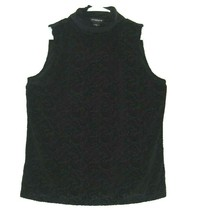 Liz Claiborne Career Women's XL Turtleneck Sleeveless Sheer Velvet Blouse - $15.99