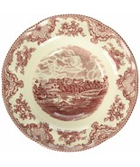 6 Johnson Brothers Old Britain Castles 9 Inch Rim PASTA Bowl, Pink NEW IN BOX - $128.69