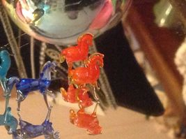 Micro miniature small hand blown glass standing horse in color choice image 4