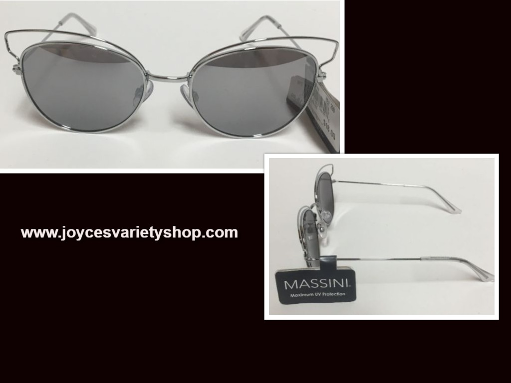 Primary image for Massini Silver Metal Mirrored Sunglasses Max UV Protection