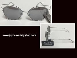 Massini Silver Metal Mirrored Sunglasses Max UV Protection - $9.99