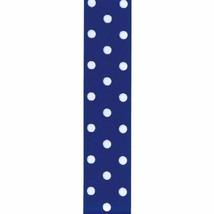 Offray Grosgrain Polka Dot Craft Ribbon, 1 1/2-Inch x 9-Feet, Royal Blue - $4.13