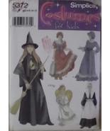 Simplicity 5372 Children Costume Girl Size 2-12 Girl Angel Prairie Pilgr... - $10.00