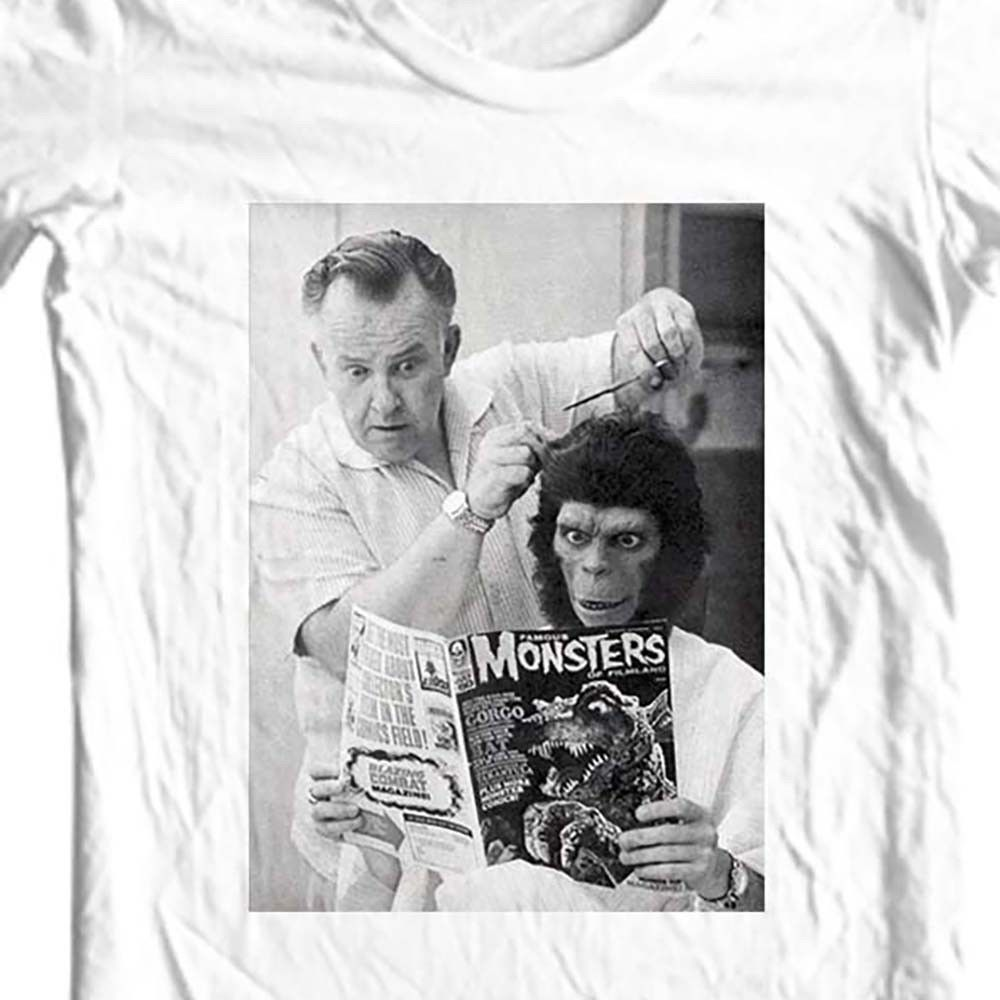 Planet of the Apes T-shirt John Chambers Original retro 1970's movie cotton tee
