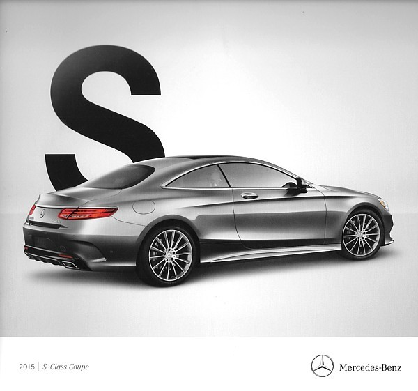 Primary image for 2015 Mercedes-Benz S-CLASS COUPE brochure catalog 550 4MATIC 63 65 AMG