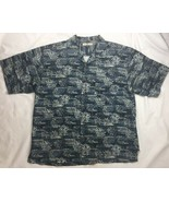 Men's Tommy Bahama 100% Silk S/S Floral Hawaiian Camp Shirt XL - $28.04
