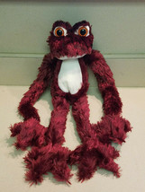 "Goffa Burgundy Hanging Frog Plush Toy 19"" Stuffed Animal (NEW) - $19.75"