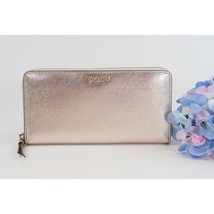 Kate Spade Cameron Street Rose Gold Leather Large Zip Around Lacey Wallet NWT  - $148.01