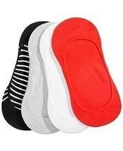 HUE Womens LOW CUT LINER Socks Black Stripe 4 Pair Value Pack $16 - NWT - $9.49