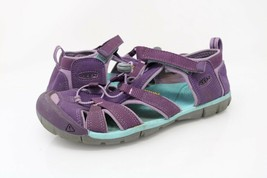 KEEN Womens Seacamp II CNX Sandals Purple Hook & Loop Leather Bungee Lac... - $24.99